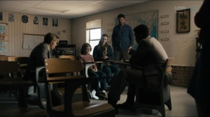 The Big Never- Ronnie Boyle, played by Lennon Morgan, tells Wayne and Roland about his friendship with Will Purcell- HBO, True Detective