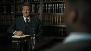 The Great War and Modern Memory- Alan Jones, played by Jon Tenney, greets Wayne- HBO, True Detective