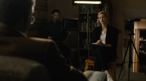 The Great War and Modern Memory- Elisa Montgomery, played by Sarah Gadon, speaks with 2015 Wayne- HBO, True Detective