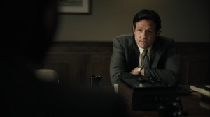 The Great War and Modern Memory- Jim Dobkins, played byJosh Hopkins, asks Wayne about the Purcell case- HBO, True Detective