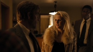 The Great War and Modern Memory- Lucy Purcell, played by Mamie Gummer, finds out that her kids are missing- HBO, True Detective