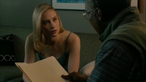 The Hour and the Day- Elisa Montgomery shares some of her findings with Wayne in 2015- HBO, True Detective