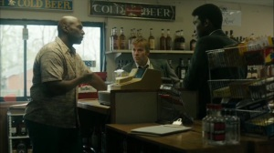 The Hour and the Day- Liquor store owner tells Roland and Wayne about Sam Whitehead- HBO, True Detective