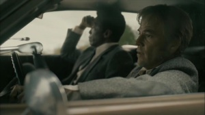 The Hour and the Day- Roland and Wayne talk about the priest- HBO, True Detective