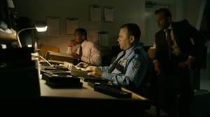 The Hour and the Day- Roland and Wayne watch surveillance footage in 1990- HBO, True Detective