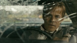 The Hour and the Day- Roland drives with a busted windshield- HBO, True Detective