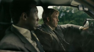 The Hour and the Day- Roland suggests he and Wayne visit a liquor store for information- HBO, True Detective