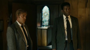The Hour and the Day- Wayne and Roland at the church- HBO, True Detective