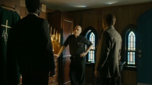 The Hour and the Day- Wayne and Roland speak with priest about Will and Julie- HBO, True Detective