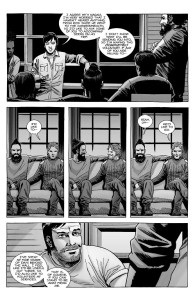 The Walking Dead #187- Aaron, Jesus, and Dante tell Maggie that they will go with Siddiq to the Commonwealth