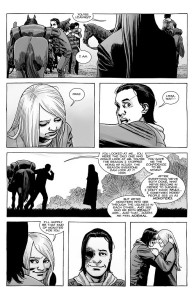 The Walking Dead #187- Carl talks with Lydia before he leaves the Hilltop