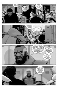 The Walking Dead #187- Mercer talks with other Commonwealth guards