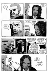 The Walking Dead #187- Rick and Michonne discuss Dwight's death