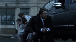 Trespassers- Jim, Harvey, and the kids forced to go on foot- Fox, Gotham, DC