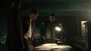 Trespassers- Lucius, Jim, and Harvey realize they have to pass through Sirens territory- Fox, Gotham, DC