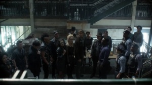 Year Zero- Gotham citizens argue with GCPD over food- Fox, Gotham, DC