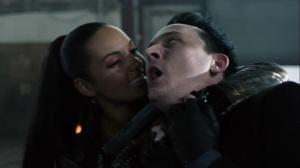 Year Zero- Tabitha holds Penguin at gunpoint- Fox, Gotham, DC