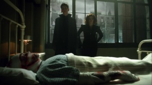 Ace Chemicals- Bruce and Selina at Jeremiah's bedside at the hospital- Fox, Gotham
