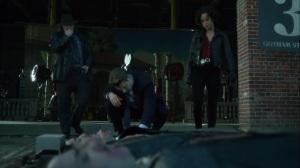 Ace Chemicals- Harvey, Jim, and Harper at a crime scene- Fox, Gotham