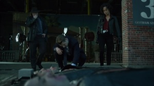 Ace Chemicals- Harvey, Jim, and Harper at a crime scene- Fox, Gotham