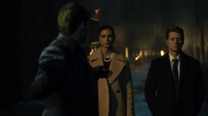 Ace Chemicals- Jeremiah reveals a hypnotized Jim and Leslie to Bruce- Fox, Gotham