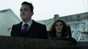 Ace Chemicals- Penguin and Selina watch someone try to escape from Gotham- Fox, Gotham