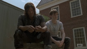 Adaptation- Henry tells Daryl that he doesn't know who he is at the Hilltop- AMC, The Walking Dead