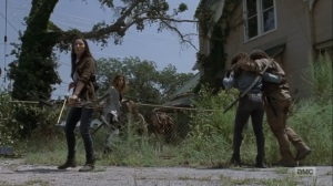 Adaptation- Michonne and company on the move- AMC, The Walking Dead