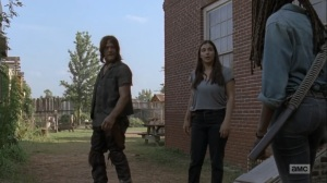 Adaptation- Michonne tells Tara and Daryl that she doesn't believe the prisoner's words- AMC, The Walking Dead