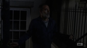 Adaptation- Negan escapes his cell and walks through Alexandria- AMC, The Walking Dead