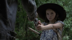 Adaptation- Negan gives Judith back her compass- AMC, The Walking Dead