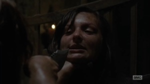 Adaptation- Prisoner girl tells Daryl about her group- AMC, The Walking Dead
