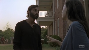Adaptation- Rosita tells Siddiq that she's pregnant- AMC, The Walking Dead