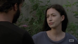 Adaptation- Siddiq learns that Rosita is pregnant- AMC, The Walking Dead