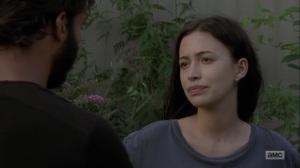 Adaptation- Siddiq learns that Rosita is pregnant- AMC, The Walking Dead
