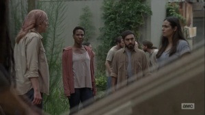 Adaptation- Tammy tells Tara that people will look to her for answers now- AMC, The Walking Dead