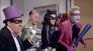 Batman 1966 Movie Villains- Penguin, Riddler, Joker, Catwoman