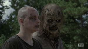 Bounty- Alpha tells one of the Whisperers to stay back for the moment- AMC, The Walking Dead