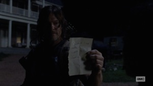 Bounty- Daryl shows Henry's note to Connie- AMC, The Walking Dead