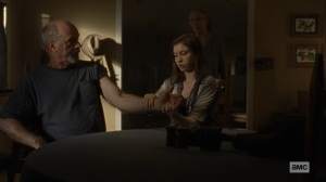 Bounty- Enid and Tammy tend to Earl- AMC, The Walking Dead