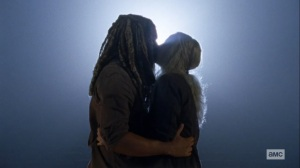 Bounty- Ezekiel and Carol kiss- AMC, The Walking Dead