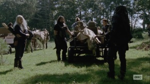 Bounty- Ezekiel tells Carol about his side mission- AMC, The Walking Dead