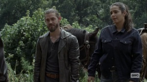 Bounty- Jesus and Tara talk to Ezekiel- AMC, The Walking Dead