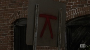 Bounty- Symbol on a traffic sign- AMC, The Walking Dead