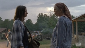 Bounty- Tammy thanks Enid for helping Earl- AMC, The Walking Dead