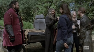 Bounty- Tara presents Ezekiel with the charter- AMC, The Walking Dead