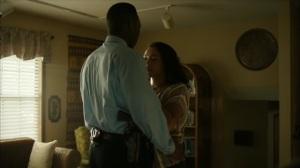 Hunters in the Dark- Amelia helps Wayne with his tie- HBO, True Detective