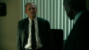 Hunters in the Dark- Detective Harris James, played by Scott Shepherd, talks with Wayne and Roland- HBO, True Detective