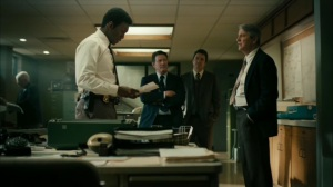 Hunters in the Dark- Detectives tells Wayne that Brett Woodard killed both Will and Julie Purcell- HBO, True Detective