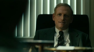 Hunters in the Dark- Harris James speaks with Roland and Wayne- HBO, True Detective